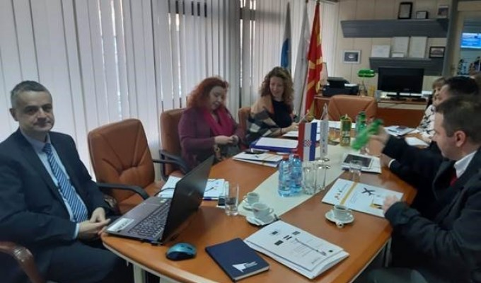 "First Steering Committee Meeting held in North Macedonia for EU funded project ""Support for participation in the ECAA – European Common Aviation Area"""